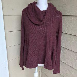 Anthropologie Postmark Purple Over Sized Sweater